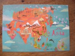 Asia, Asie - Carte Geografiche