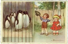 Illustrateur. Colombo. Enfants Et Pingouins. - Colombo, E.