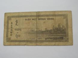 1 Piastre  - Banque De L'Indochine 1945   **** EN ACHAT IMMEDIAT **** - Indochina