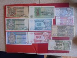 ZAIRE LOT DE 10 BILLETS (B.7) - Munten & Bankbiljetten