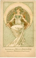 MUCHA Carte Publicitaire 'La Belle Jardinière' - Mucha, Alphonse