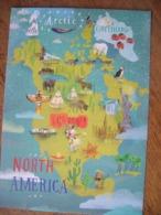 North America Amérique Du Nord - Carte Geografiche