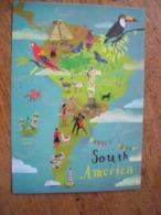 South America Amérique Du Sud - Carte Geografiche