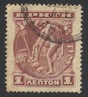 Crete, 1 L. 1900, Sc # 50, Mi # 1, Used. - Crete