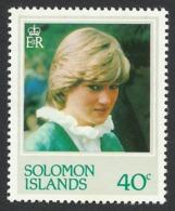 Solomon Islands, 40 C. 1982, Sc # 472, Mi # 467, MNH, Princess Diana - Solomon Islands (1978-...)