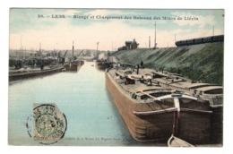 62 PAS DE CALAIS - LENS Rivage Et Chargement Des Bateaux Des Mines De Liévin, Aquarellée - Lens