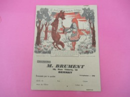 Protège-Cahier/Chaussures/ Le Petit Chaperon Rouge/ BRUMENT /  Rue Thiers BERNAY/ Eure /Vers 1930-1950  CAH223 - Shoes