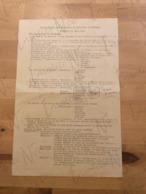 Programme De La Visite Royale Aux Fonderies Et Poêleries De Tamines  - Juin 1964 - Brouillon Dactylographié - Programmes