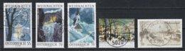 Autriche : Timbres Yvert & Tellier N° 2395 - 2795 - 2871 - ???? Et ???? Avec Oblit. Rondes. - 1945-.... 2ème République