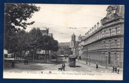 08. Sedan. Le Collège Et La Place Crussy. Tramway Gare / Pub  Bénédictine. Au Dos Pub Union Manufactures, Elbeuf - Sedan