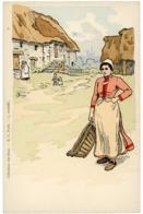 COLLECTION DES CENT. Carte Verticale Neuve N° 4 Illustrée Par BORGEX, Représentant Une Paysanne. TB - Autres Illustrateurs