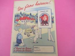Protège-Cahier/Banque/CAM/Crédit Agricole-Mutuel De L'Eure/EVREUX/Une Ferme Heureuse/EFGE Valenciennes /Vers 1950 CAH225 - Banque & Assurance