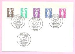Marianne Du Bicentenaire - Enveloppe Premier Jour Du 26 Mars 1990.  TP  0,10 F. - 0,20 F. - 0,50 F. - 3,20 F. - 3,80 F. - 1989-96 Marianne (Zweihunderjahrfeier)