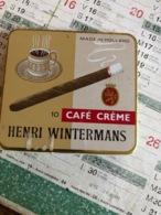 Boîte De Cigare Café Crème ( Boite En Fer) - Boites à Tabac Vides