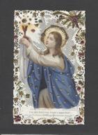 Themes Div-ref CC305- Images Religieuses - Image Religieuse - Image Pieuse - Canivet - Dentelle -paillettes Et Dorures - - Devotion Images