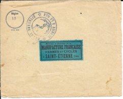 CACHET : MARINE NATIONALE SERVICE A LA MER - REGION 13 - 1918 - ENVELOPPE MANUFACTURE ST ETIENNE - CACHET RA4 ST ETIENNE - 1. Weltkrieg 1914-1918