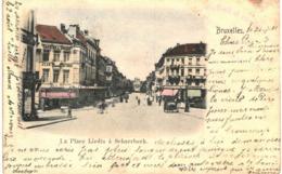 SCHAERBEEK La Place Liedts à Schaerbeek. - Spoorwegen, Stations