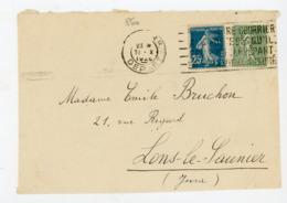 SEMEUSE  N° Yt 140+198 OBLI. ? 1928 SUR DEVANT DE LETTRE - 1906-38 Semeuse Camée