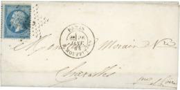 1864 N° 22, 20 Ct Bleu Sur Lettre Obl. étoile '29' + C.à.d 'PARIS R. MOUFFETARD 26/1/64' (Indice 21 = 600 €). - 1849-1876: Classic Period