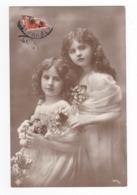 Deux Belles Fillettes Avec Des Fleurs N°3619 20 VOIR DOS - Enfants
