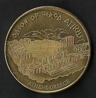 Médaille Touristique Monument GRECE Antique  ATHENES ODEON/THEATRE HERODE ATTICUS Pays Ville Hellenic Heritage - Tokens & Medals