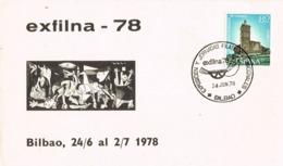33834. Tarjeta Exposicion BILBAO 1978. Exfilna 78. Guernika, Guernica - 1931-Hoy: 2ª República - ... Juan Carlos I