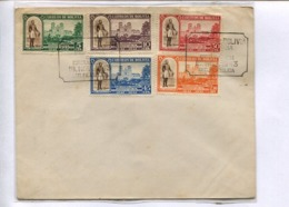 GENERAL JOSE BALLIVIAN PLAZA Y CATEDRAL DE TRINIDAD. ENVELOPE BOLIVIA 1943  FDC DIA DE EMISION. PLUSIEURS TIMBRES -LILHU - Bolivie