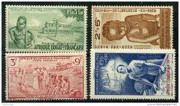 AEF (1942) PA N 10 à 13 * (charniere) - A.E.F. (1936-1958)