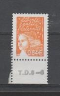 FRANCE / 2002 / Y&T N° 3452 ** AVEC PHO : Luquet 0.64 € Orange Foncé De Feuille Gommée BdF Bas Avec N° De Presse - France