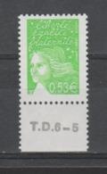 FRANCE / 2002 / Y&T N° 3450 ** AVEC PHO : Luquet RF 0.53 € Vert-jaune De Feuille Gommée BdF Bas Avec N° De Presse - France