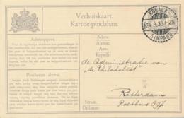 Nederlands Indië - 1933 - 2 Cent Cijfer, Verhuiskaart G8 Luxe Van LB KOEALASIMPANG Naar Rotterdam / Nederland - Niederländisch-Indien