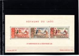 LAOS--Bloc N° 39 **--1967--10° Anniversaire De La Croix Rouge - Laos