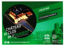 CP 21 Côte-d'Or, Château Et Clos De Vougeot, Les Climats De Bourgogne, Patrimoine Mondial De L'UNESCO, 2015 - Autres Communes