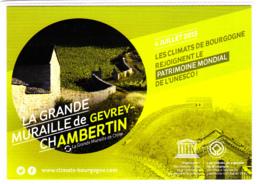 CP 21 Côte-d'Or, Gevrey Chambertin, La Grande Muraille, Les Climats De Bourgogne, Patrimoine Mondial De L'UNESCO, 2015 - Gevrey Chambertin