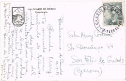33840. Postal BALNEARIO Del CARDÓ (Tarragona) 1954. CARTERIA Especial Negro - 1931-Hoy: 2ª República - ... Juan Carlos I