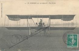 """SOMMER  - Signature AUTOGRAPHE Sur CP """" R. SOMMER Sur Son Appareil - Vue De Face - RARE - Mouzon Ardennes - Flieger"""