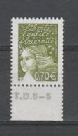 FRANCE / 2003 / Y&T N° 3571 ** : Luquet RF 0.70 € BdF Bas Avec N° De Presse - Gomme D'origine Intacte - France
