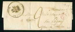LETTRE  DU  19  NOVEMBRE  1841  DE  FREMIGNY A  DESTINATION  DE  LESCHE PAR  LAGNY - Marcophilie (Lettres)