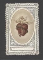 Themes Div-ref CC271- Images Religieuses - Image Religieuse - Image Pieuse - Canivet - Dentelle - Coeurs - Le Coeur - - Devotieprenten