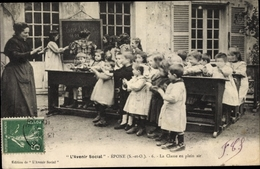 Cp Epone Yvelines, La Classe En Plein Air, Avenir Social - France