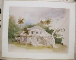 Ile De La Réunion. Francois HENNEQUET 1981 Les Cases -Espace. La Maison La Renaissance à Sainte Suzanne N° 16 - Autres Collections