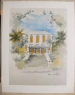 Ile De La Réunion. Francois HENNEQUET 1981 Les Cases -Espace.  La Maison Rouge à Saint Louis N° 20 - Autres Collections