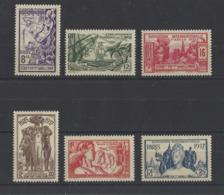 INDE.  YT  N° 109/114  Neuf **   1937 - India (1892-1954)