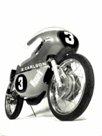 B CARLSON MONARK DAVE MINTON 18*12 Cm Moto MOTOCROSS MOTORCYCLE Douglas J Jackson Archive Of Motorcycles - Coches