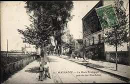 Cp Malakoff Hauts De Seine, La Route Strategique Pres Du Clos Montholon - Altri Comuni