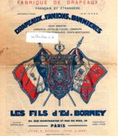 FABRIQUE DE DRAPEAUX- D31   1  - Les Fils D'Ed. Borney. Paris. - Werbung