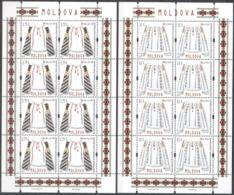 "Moldova 2015 ""National Costumes.Manual Embroidery"" 2sheets Quality:100% - Moldavia"
