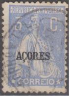 "AÇORES-1924-1928, Tipo «CERES». Selos Do Cont. C/ Sobrec. "" AÇORES "" 3 C.  D. 12x11 1/2 ( P. Liso )   (o) Afinsa Nº 199 - Azoren"