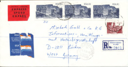 South Africa Registered Cover Sent Express To Germany Verwoerdburg 9-9-1988 - Covers & Documents
