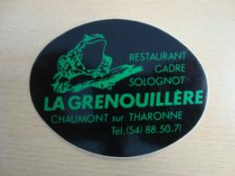 AUTOCOLLANT RESTAURANT LA GRENOUILLERE CHAUMONT SUR THARONNE - Autocollants